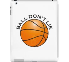 BASKETBALL, SPORT, BALL DON'T LIE, USA, America, American iPad Case/Skin