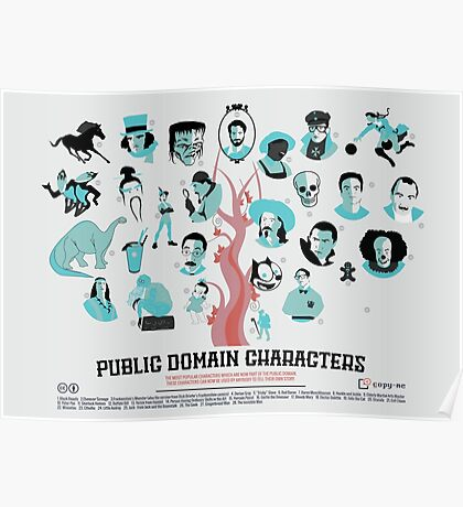 Public Domain Characters Poster