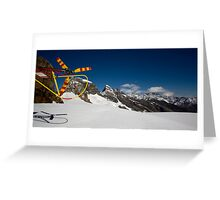 Helicopter & Glacier Greeting Card