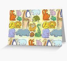 Animal fun Greeting Card