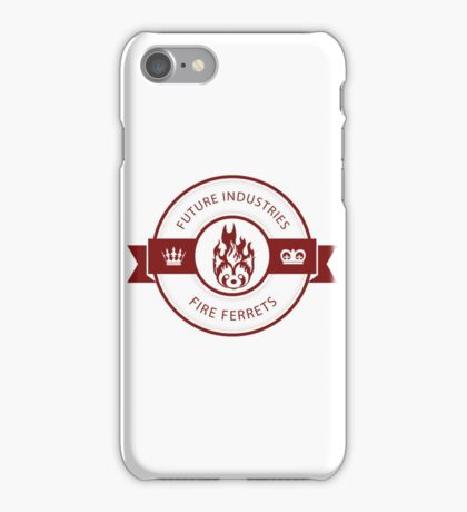 Vintage Future Industries Fire Ferrets Logo Color iPhone Case/Skin