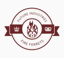 Vintage Future Industries Fire Ferrets Logo Color by spacesmuggler