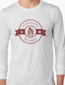 Vintage Future Industries Fire Ferrets Logo Color Long Sleeve T-Shirt