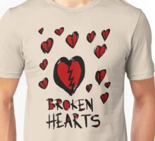 Broken hearts Unisex T-Shirt