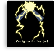 It's Lights Out For You - Spark Man Canvas Print