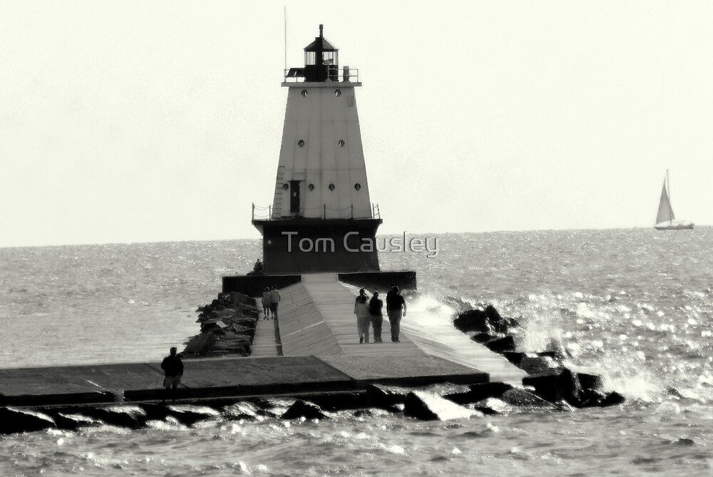 The Ludington Lighthouse by Tom Causley