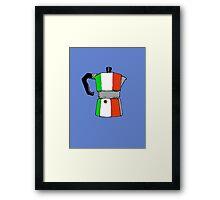 italian coffeepot Framed Print