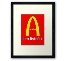LIVIN ATHEISM by Tai's Tees Framed Print