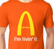 LIVIN ATHEISM by Tai's Tees Unisex T-Shirt