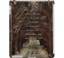 The Lord directs our steps-Psalm 37:23 iPad Case/Skin
