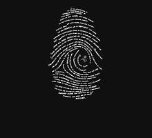 Darwin's Fingerprint wht by Tai's Tees Hoodie