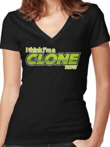 Weird Al - Clone Now Women's Fitted V-Neck T-Shirt