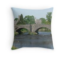 Building bridges Throw Pillow