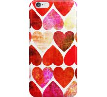 Mod Red Grungy Hearts Design iPhone Case/Skin