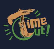TIME OUT by Tai's Tees Kids Tee