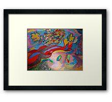 Life is color Framed Print