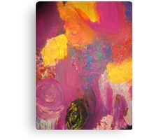 Flowers in violet Canvas Print