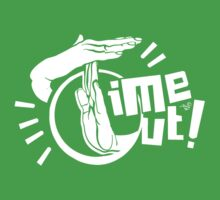 TIME OUT (white) by Tai's Tees Kids Clothes