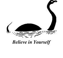 Believe in Yourself - The Loch Ness Monster (Black) by Zagreus