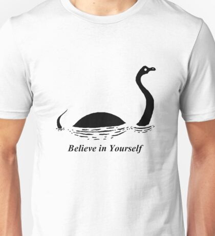 Believe in Yourself - The Loch Ness Monster (Black) Unisex T-Shirt