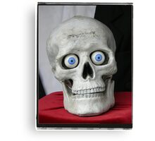 New eyes for an old skull... Canvas Print
