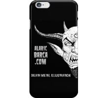 alaricbarca.com death metal illustration iPhone Case/Skin