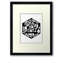 20 Sides Dungeon Framed Print