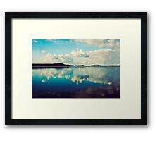 Cloudy Reflections Framed Print