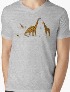 Brachiosaurus Mens V-Neck T-Shirt