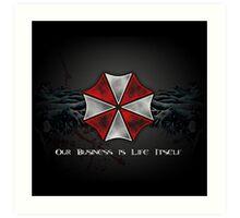 Umbrella Corporation Logo Art Print