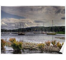 sail boats on coniston  Poster