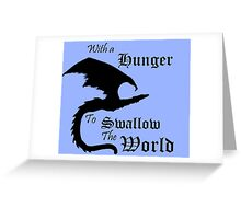 The World Eater Greeting Card