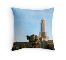 Mount Timpanogos LDS Temple - August Clouds Throw Pillow