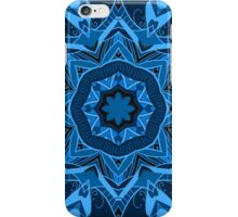 Blue ornament iPhone Case/Skin