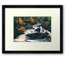 Fall Falls Framed Print