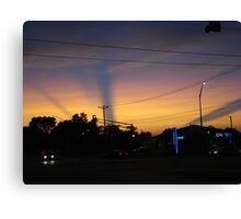 Streaks Across Sky During Sunset Canvas Print