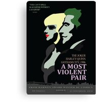 A Most Violent Pair Parody Prints Canvas Print