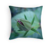 Budding Hibiscus Throw Pillow