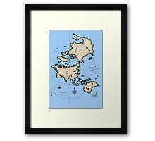 Mercator Map Framed Print