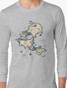 Mercator Map Long Sleeve T-Shirt