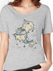 Mercator Map Women's Relaxed Fit T-Shirt