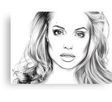 Angelina Jolie minimalist art portrait - digital painting Metal Print