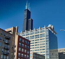 Surreal Chicago Sears Tower by impala01gurl