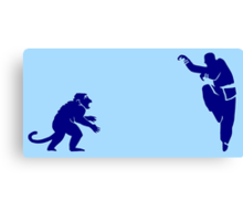 Monkey Kung Fu with Knife Canvas Print