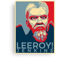 Leeroy Jenkins Obamized Canvas Print
