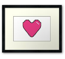 Simple Pink Pixel Heart Framed Print
