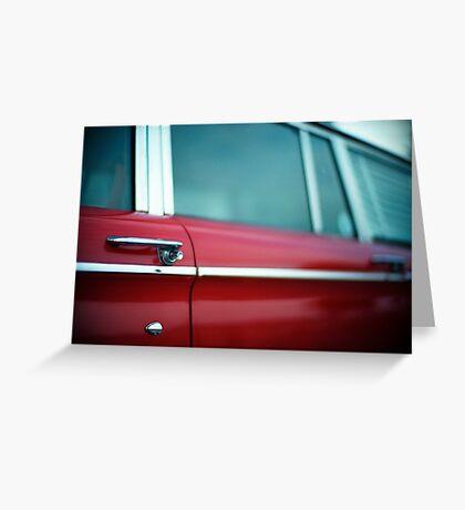 Car Door Handle Greeting Card