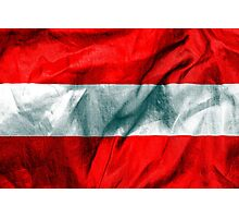 Austria Flag Photographic Print