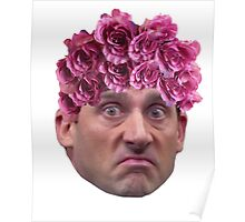 Michael Scott Flower Crown Poster