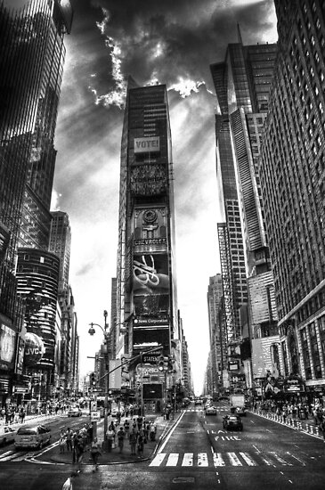 Godfingers in Times Square by Phil Scott